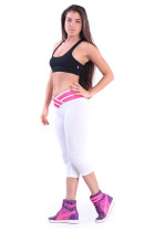 White Close-fitting Ladies Yoga Sports Pants