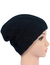 Warmth Navy Blue Windproof Knit Cap Soft Crochet