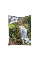 Forest Waterfall Scenery Print Polyester Hanging Tapestry