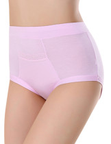 Enchanting Pink Bamboo High Rise Panties Plus Size Breathable