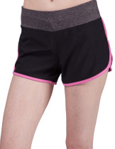 Sophisticated Pink Middle Waist Yoga Shorts Stretchy Side Slit