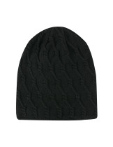 Winter Thick Black Knitted Head Cover Hats Cozy