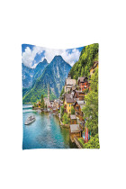 Modern Village Mountain View Bedroom Tapestry Wall Accessories