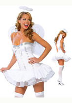 Fantasy Innocence Tube Dress Angel Wings Halloween