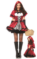 Gothic Little Red Riding Hood Halloween Costume Dresses
