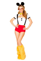 Mischievous Disney Minnie Mickey Mouse Cosplay Costume