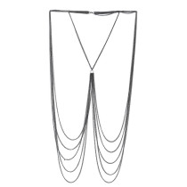 Enticing Silver Fringed Layered Chain Belly Waist Body Jewelry