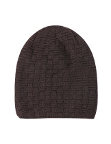 Coffee Cashmere Lining Beanie Cap Keeping Warm Oversize