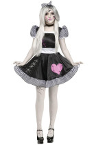 Deluxe Black Dress Broken Lolita Doll Halloween Costume