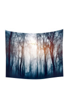Lightweight Dark Blue Forest Wall Hangings Tapestry Throw