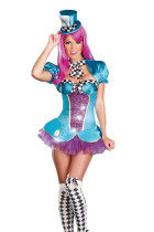 Exclusive Plaid Trim Mini Ruffles Costume Three Piece