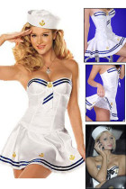 Dainty Nautical White Tube Fancy Dress Sailor Outfit