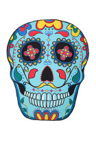 Premium Quality Coloful Flower Skull Beach Blanket Throw
