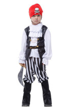 Aristocratic Stripped Kids Pirate Costume For Halloween