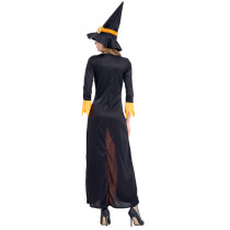 Halloween Party Witch Dress Costume Front Lace-Up Long Sleeves