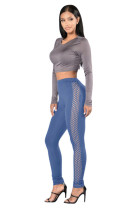 Ultimate Fit Cut Side Blue High Waisted Leggings