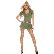 Classic Front Zipper Halloween Armed Forces Costumes