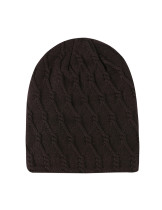 Winter Fall Coffee Warm Lining Hat Comfort Knit One Size