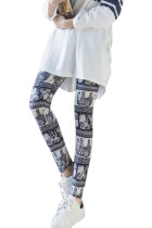 Close Comfortable Elephant Pattern Brushed Fitness Leggings