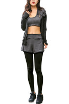 Total Fitness Essentials Black Three Pieces Activewear Suits