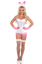 Pleasing Pink Easter Bunny Corset Realistic Animal Costumes