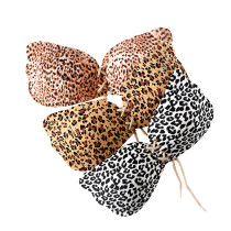 Classic White Leopard Print Invisible Bra Front Lace-Up