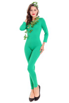 Genius Cosplay Green Fairy Jumpsuit Costumes Milk Silk