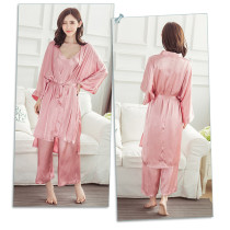Irresistible Free Cozy Pink Nightie And Robe Set Vest Long Pant