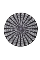 Eye-Catching Tribal Pattern Beach Roundie For Meditation