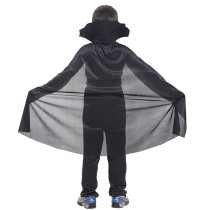 Black Tulle Cloak Halloween Vampire Outfit Kids Costume