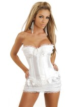 Noble Corset With White Underwear Skirt