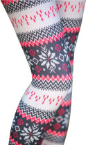 Modern Fit Printed Christmas Leggings Tight Lightweight