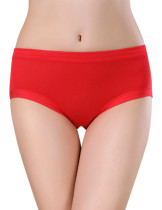 Red Sexy Cool Bamboo Uterus Warming Briefs Comfortable
