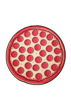 Multi-Function Round Food Pizza Swimwear Cover Up Mat
