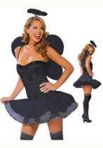 Beauty Dark Angel Tube Dress Angel Wings Costume