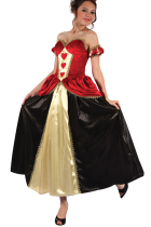 Deluxe Queen of Red Hearts Halloween Costumes Lingerie