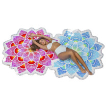 Amazing Flower Pattern Swim Towel Throw For Picnic