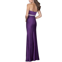 Contouring Flare Prom Purple Evening Gown Long Dresses