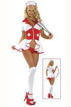 Trend Seeker Zipper Closured Split Nurse Costume Ideas
