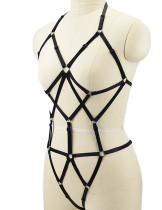 Exceptional Black Lace Up Bodysuit Lingerie Baring Back Open Cup
