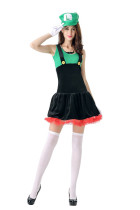 Naughty Mario Stretchy Cosplay Movie Costumes