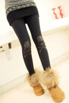 Black Skull Woman Leggings