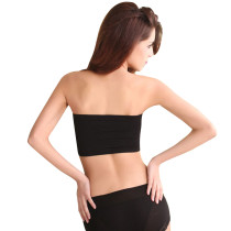 Fashion Women's Lining Tube Crop Stretch Layer Lace Bandeau Top