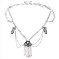 Valuable Silver Dangle Belt Dance Tassel Adjustable Waist Chain
