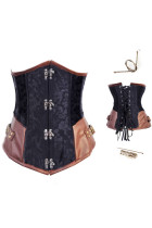 Plus Size Underbust Steel Boned Steampunk Corset