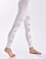 Unique Yoga Legging Middle Waist Drop Shipping White Mesh Panel