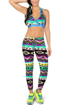 Lightweight Elasticated Bohemian Printing Brushed Moving Leggings