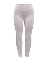 Light Grey Wrinkle Hip Seam Sporting Tights Ruffled Decor Obi Eye Catcher