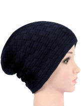 Casual Navy Blue Warm Knitting Beanie Hat Light Weight