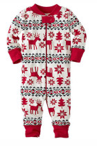 Breathable Cozy Zipper Night Baby Christmas Pajamas